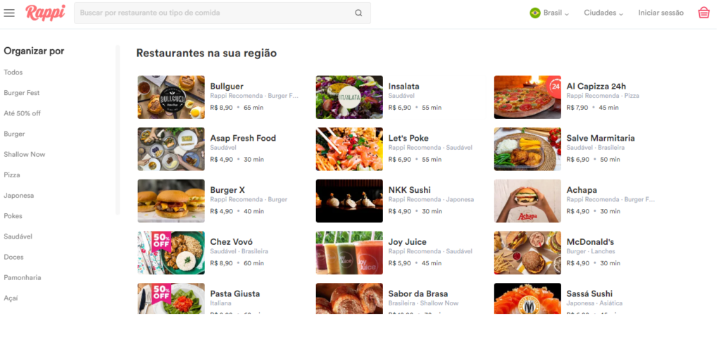 Restaurantes Rappi